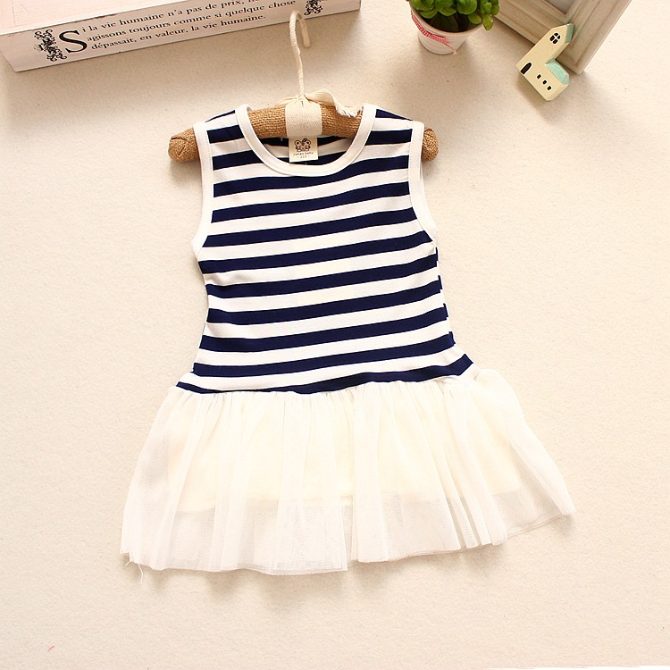 23aecf72cc8f3 2019 Summer Baby Girls Dresses Striped Sleeveless T shirt Baby Girl Clothes  6 12 Months Baby Clothing-in Dresses from Mother   Kids on Aliexpress.com  ...