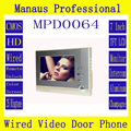 "Hot Selling Professional Smart Home 7""  Screen Video Intercom Phone,Indoor Monitor Video Doorphone System D64a"