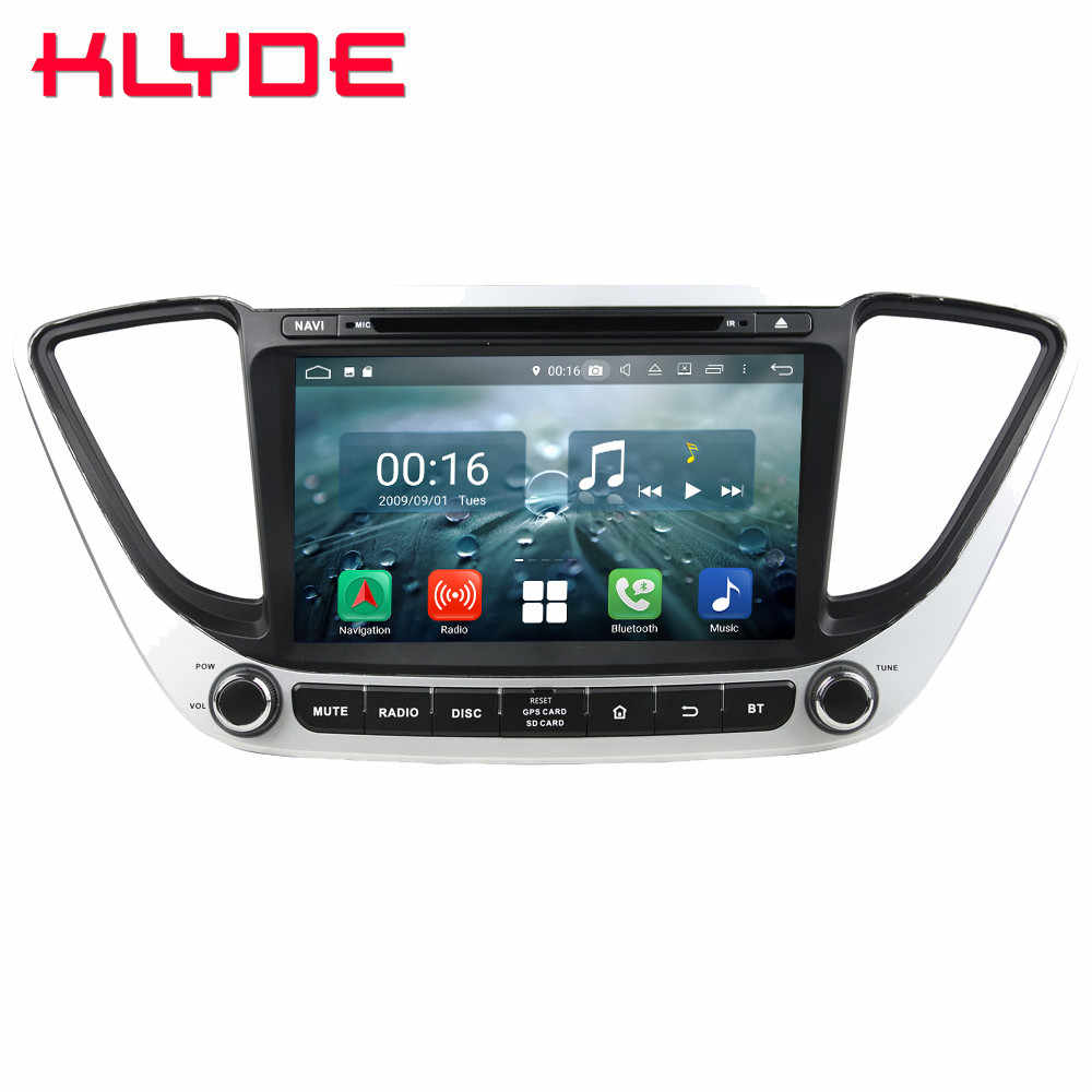 "8 ""Octa Core 4G WIFI Android 9,0 4 GB RAM 64 GB ROM RDS coche DVD reproductor Multimedia radio Estéreo para Hyundai Verna Solaris 2017, 2018"