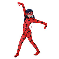 Miraculous Ladybug Cosplay Costume With Eye Mask Red Bag For Children Girls Adult Woman Ladybug Miraculous