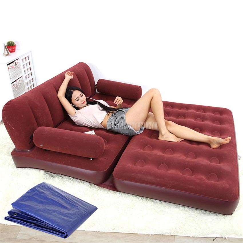 Multifunctional Portable Air Inflatable Sofa Bed Outddor Furniture Home Bedroom Garden Sofa For 2 Person With Air Pump Yt-142 Home Furniture