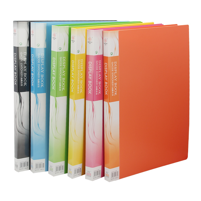 1 PC 60 insérer dossier de fichier en plastique A3 dossier de fichier fichier fichier de données Clip de couleur 8 K dessins Album A3 dossier de fichier pour la papeterie de bureau