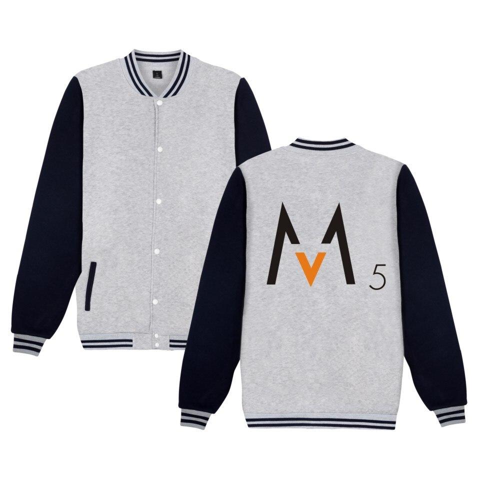 LUCKYFRIDAYF Maroon 5 Jacket Rock Music Coat Sweatshirt Rock Band Logo Print Baseball Jacket For Rock Music Lover Big Size 4XL