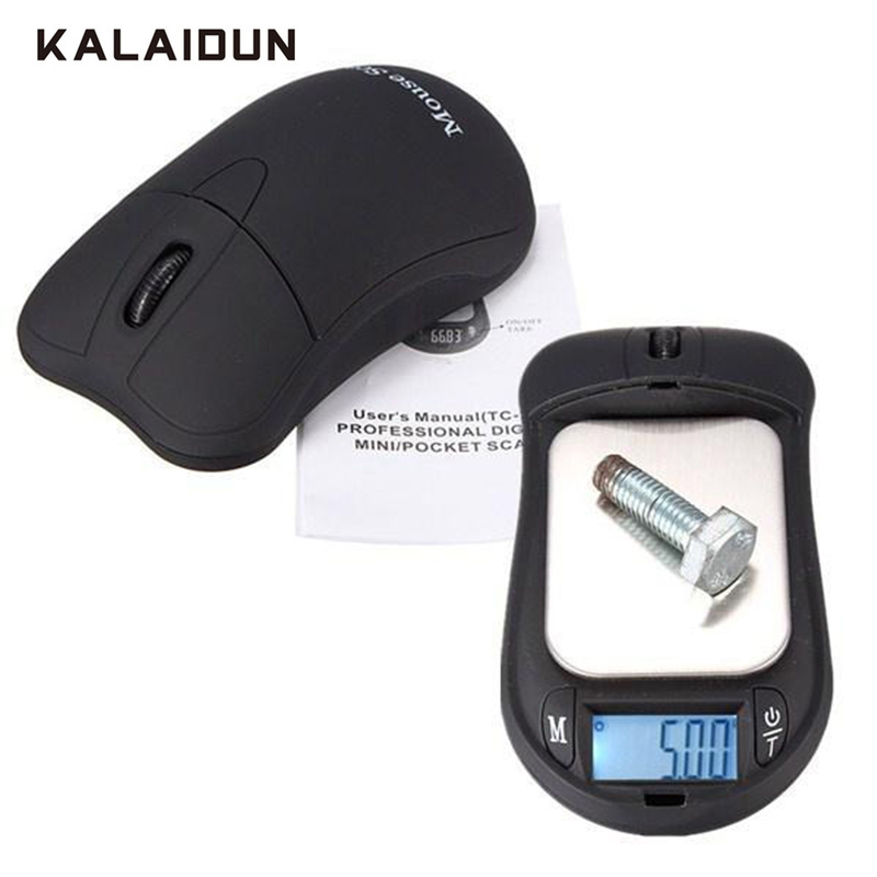 KALAIDUN Digital Scale Jewelry Scale Precision Portable Mini 0.01g 200g LCD Display Mouse Style Pocket Weighing Balances Scale