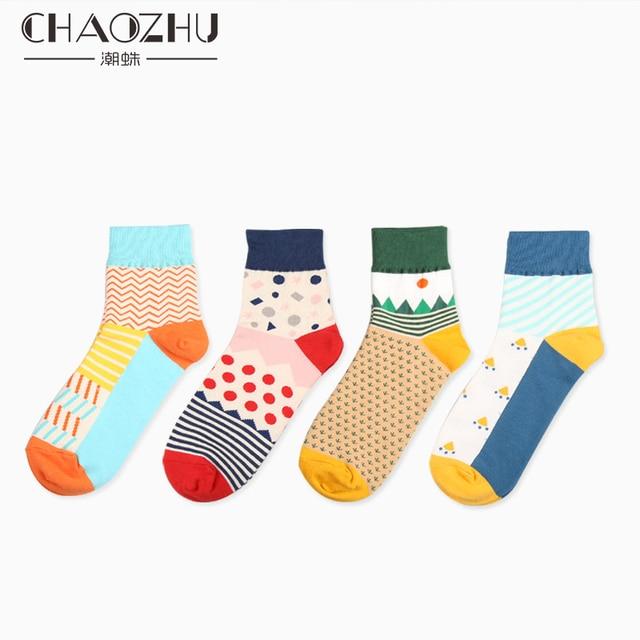 Chaozhu nueva Ilustración Creativa pareja romántica Calcetines tejer ...