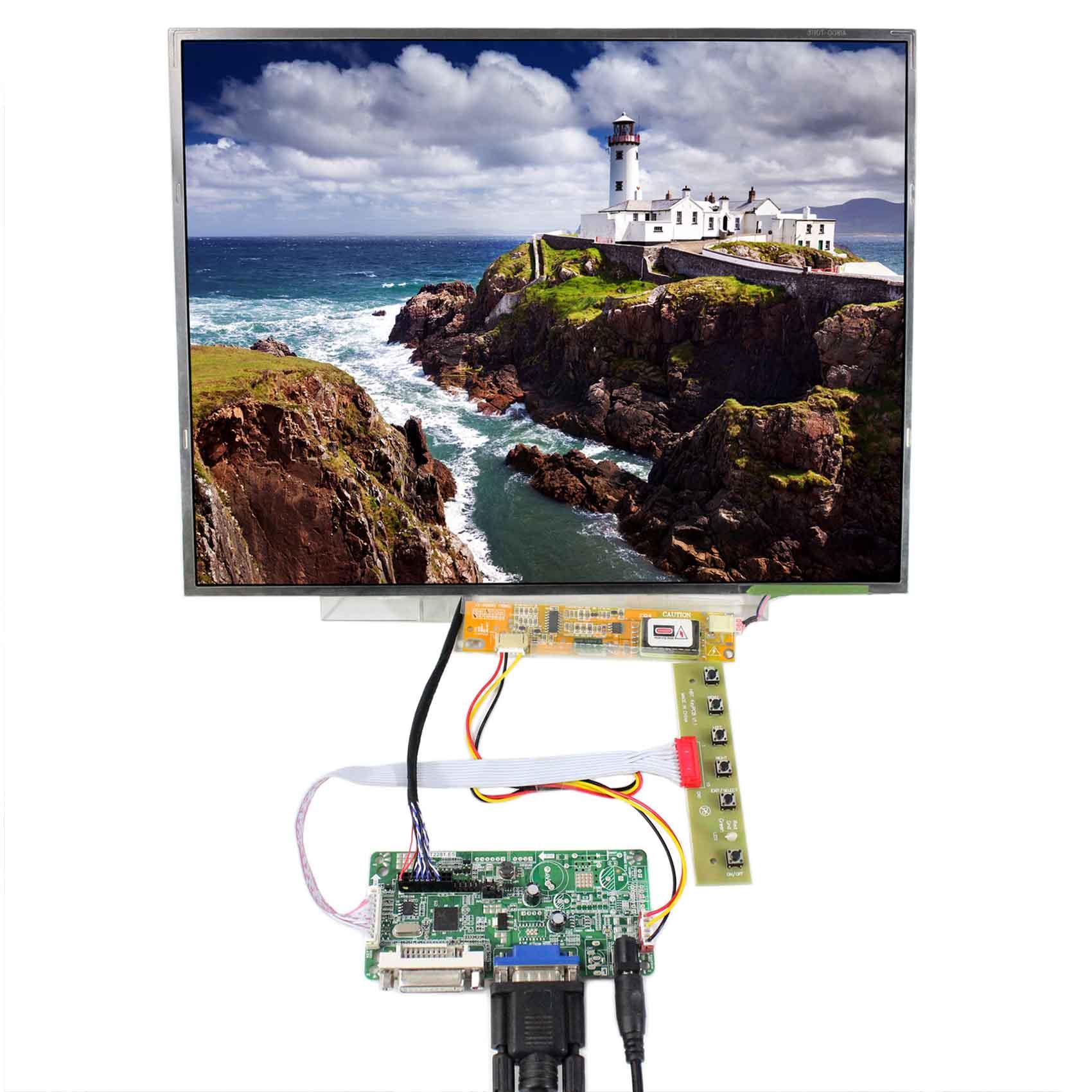 DVI VGA lcd controller board with 15inch 1024x768 B150XG03 LP150XG08 N150XB Lcd panelDVI VGA lcd controller board with 15inch 1024x768 B150XG03 LP150XG08 N150XB Lcd panel