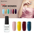 Belle Fille Gel Nail Polish UV Gel Nude Varnish Need UV LED Chocolate Color Varnish Colors Gelpolish Nail Gel Polish