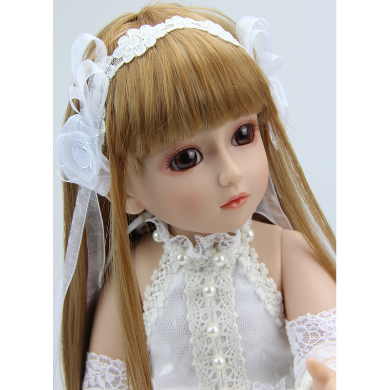 18inch Reborn baby Doll Ball Jointed BJD SD Hard Vnyl Toy Girl for Kids Children Sweater Brinquedos Juguetes Snow White Princess uncle 1 3 1 4 1 6 doll accessories for bjd sd bjd eyelashes for doll 1 pair tx 03