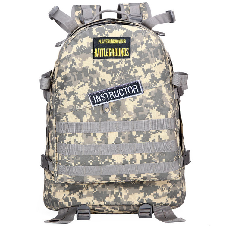 Hot Game PLAYERUNKNOWN'S BATTLEGROUNDS PUBG Winner Chicken Dinner Level1-3 Instructor Backpack Multi-functionCosplay Accessories