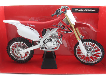 NewRay 1/6 Scale Motorbike Model Toys Honda CRF450R Diecast Metal Motorcycle Model Toy For Collection,Gift,Kids