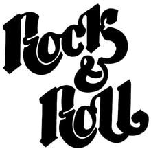 CK2226#15*15cm Rock n Roll funny car sticker vinyl decal silver/black car auto stickers for car bumper window car decorations muse vinyl sticker decal rock oasis coldplay depeche mode car window bumper