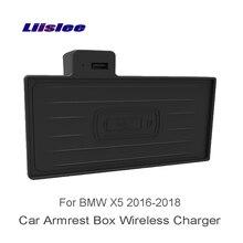 Liislee Wifi Charger Storage For BMW X5 F15 F85 2016~2018 Car Charger Storage Car Cup Frame Car Quick Charge Fast Mobile Phone liislee for bmw x3 f25 g01 charger storag car armrest box wireless charger car quick charge fast mobile phone storage box