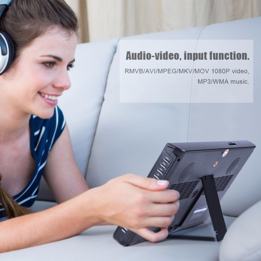 LEADSTAR Tragbare Digitale HD LED TV 1024x600 10 zoll auto Fernsehen Empfänger dvbt2 TV unterstützung TF Karte USB audio Video