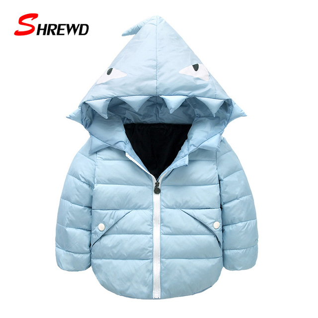 Children's Winter Jackets 2017 New Fashion Cartoon Hooded Down Jacket For Girl Zipper Warm Long Sleeve Kids Clothes Girls 5564W