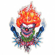 1Pc Reflective Clown Fire Motorcycle Decal Sticker for Motorcycle Motorbike Bumper Cool Decorate For Helmet Window locker