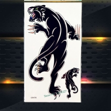 Black Panther Temporary Tattoo Leopard Print Body Art Painting Tattoo Stickers PGF674 Men Arm Sleeves Fake Tatoo Women Makeup