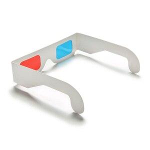 Image 4 - HFES חמה 100 זוגות אוניברסלי נייר Anaglyph 3D משקפיים נייר 3D תצוגת משקפיים Anaglyph אדום ציאן אדום/כחול 3D זכוכית עבור סרט EF