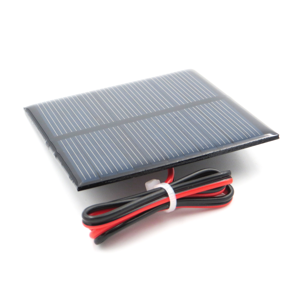 1pc x 5.5V 110mA with 30cm extend wire Solar Panel Polycrystalline Silicon DIY Battery Charger Small Mini Solar Cell cable toy