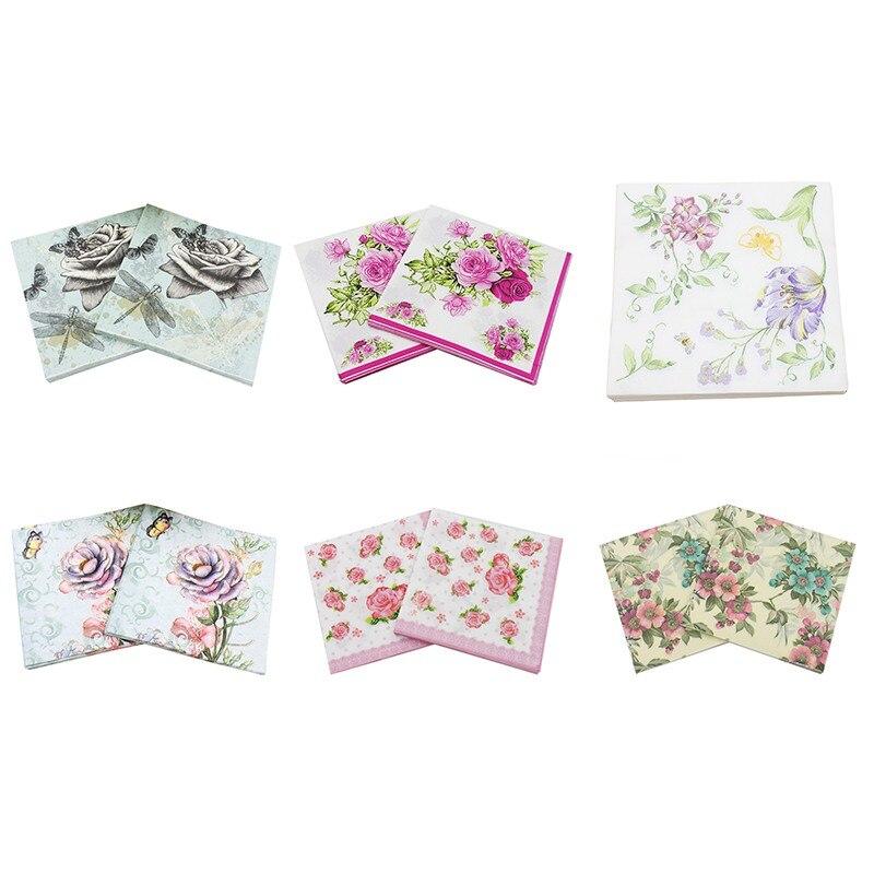 Tovaglioli di carta stampata per fiori e decori Tissue Fabric - Per vacanze e feste