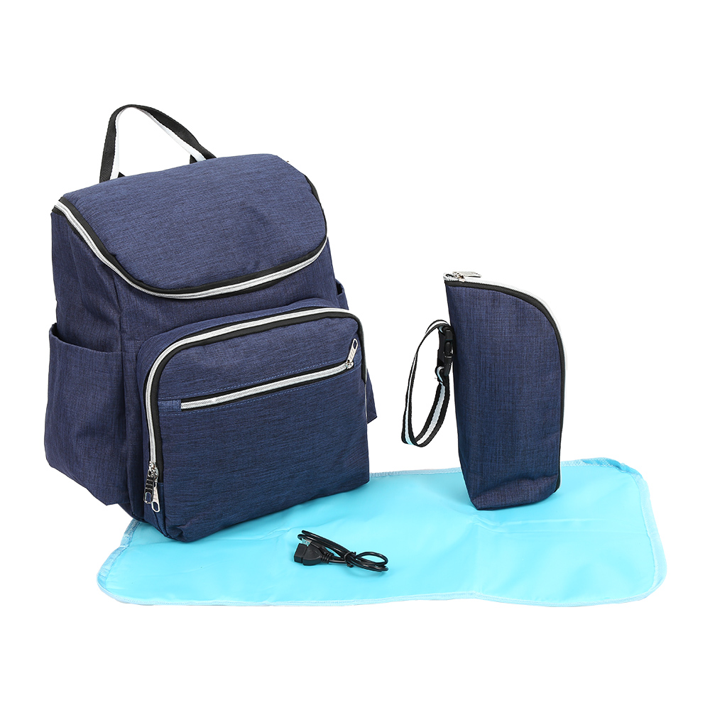 3 in 1 Large Capacity Diaper Bags Mummy Maternity Nappy Bag Travel canvas Nursing Backpack with Bottle bag Diaper pad
