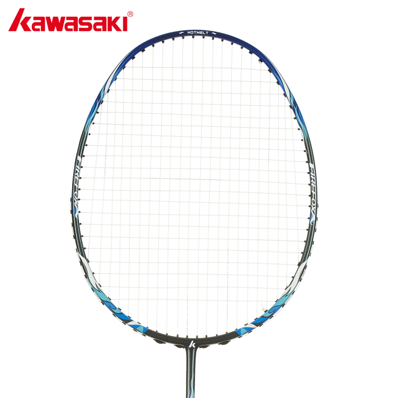 KAWASAKI Brand Firefox P520 Professional Badminton Rackets with String for Beginners Badminton Racquets kawasaki brand spider 6900 badminton rackets high tech wind break frame s5 graphite fiber professional badminton racquets