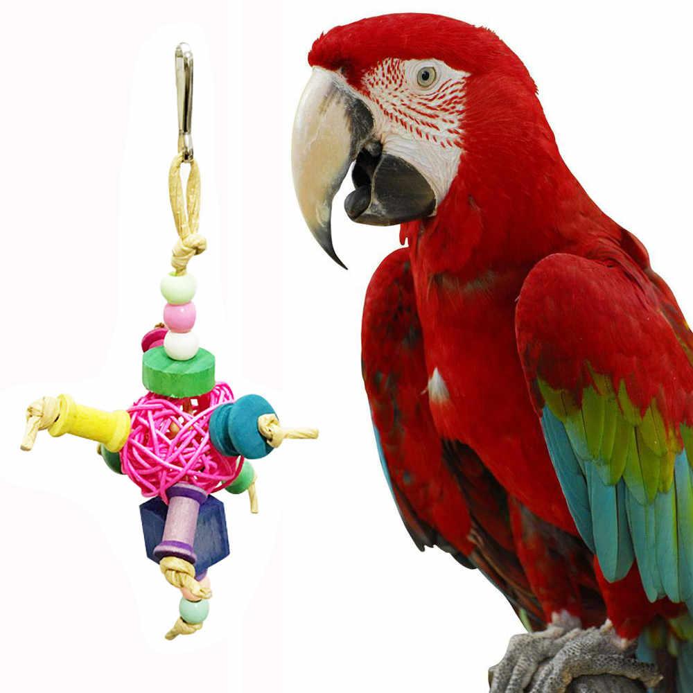 Haustier Vogel Papagei Kauen Bites Schaukel Käfig Spielzeug ...