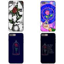 Beauty And The Beast Rose Red Vidro TPU Bolsa Móvel Para O iPhone Da Apple X XS Max XR 4 4S 5 7 8 5S SE 6 6 S Plus(China)