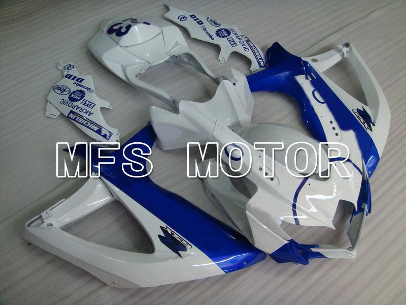 2008-2010 08 09 10 GSXR 600/750 К8 инъекции ABS обтекатель для Suzuki - Иордания - белый/синий