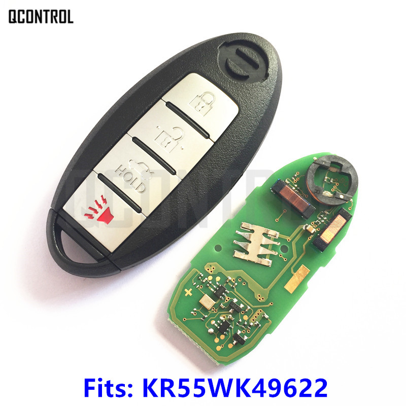 цена на QCONTROL Smart Card Remote Key for NISSAN Altima Teana Maxima MURANO for Infiniti G25 G35 G37 Q60 FX35 FX37 QX70 FX50