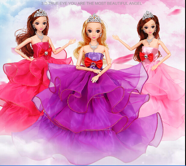 Dolls accessories clothes party dress beautiful bride doll for babies elegant wedding dress set for girl toy pretend play Kids