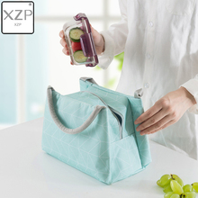 XZP Geometric Thermal Bags Women Portable Insulated Baby Food Feeding Milk Bottle Warm Picnic Waterproof Lunch Handbags