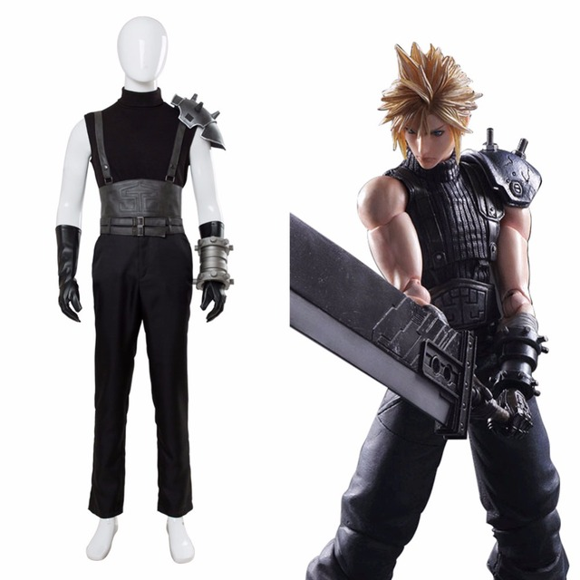 final fantasy vii 7 remake cloud strife cosplay costume outfit ff