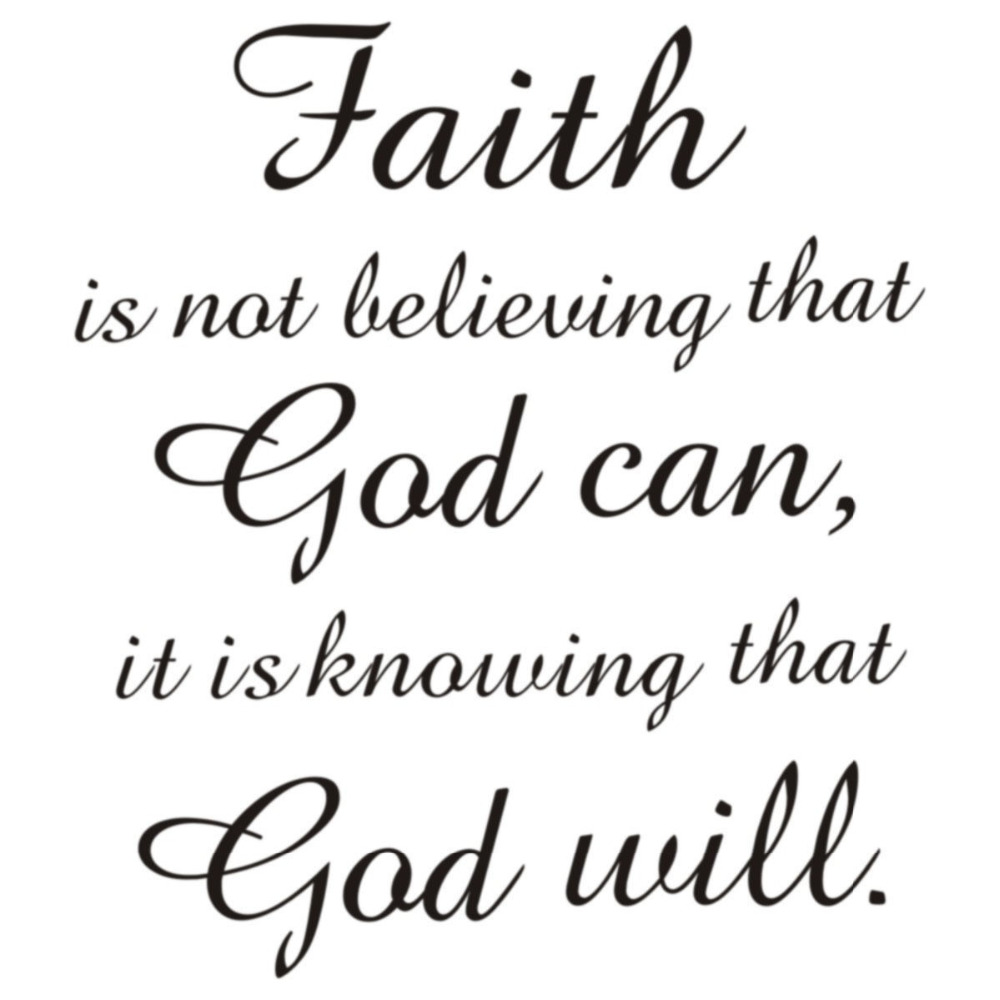 Faith In God Quotes New Arrival Waterproof Wall Decals Quotes Faith God Can God Will
