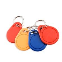 10Pcs RFID Keytags Mifare 13.56MHz 14443A M1 S50 Small Smart IC Key Ring Tag Keyfob Token Nfc Access Control Keycard