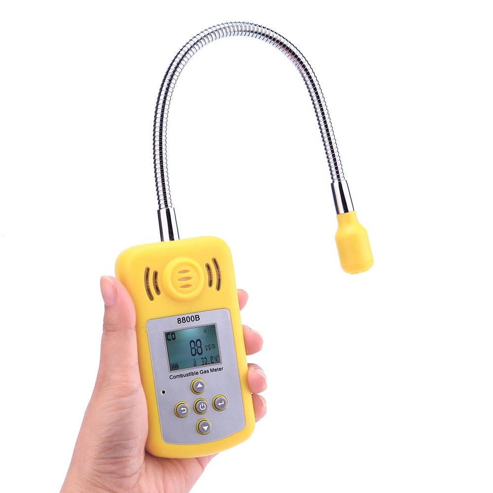 Portable Gas Analyzer Professional Combustible Gas Detector Gas Leak Location Determine Tester with LCD Screen Sound-light AlarmPortable Gas Analyzer Professional Combustible Gas Detector Gas Leak Location Determine Tester with LCD Screen Sound-light Alarm