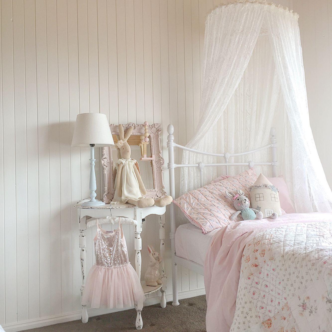 romntico hung dome princesa litera encaje blanco carpas mosquiteras cenefa cama cuna cama con dosel de
