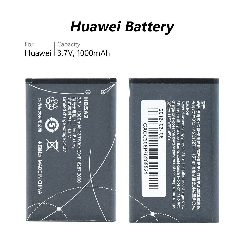 US $5 04 45% OFF|New Li ion Lithium Replacement HB5A2 Battery For Huawei  C5730 C5070 C8000 U8110 T552 T550 E5220 U7519 U7510 Free Shipping-in