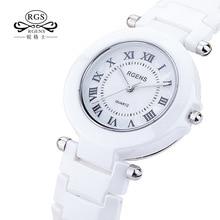 GRENS Original true Ceramic wrist watches womens watches quartz white black ladies wristwatches casual waterproof number 5509