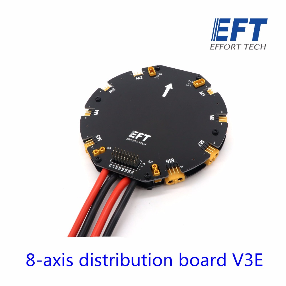 EFT Eight - axis Power Distribution Management Module High Current PDB for DIY agricultural drone Octocopter tarot high current distribution board power management module 12s 480a power supply board for agricultural drone quad hexacopter
