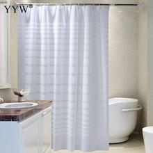 Waterproof 3d Large Shower Curtains White Lattice Curtain Bath Screens Peva Bathroom