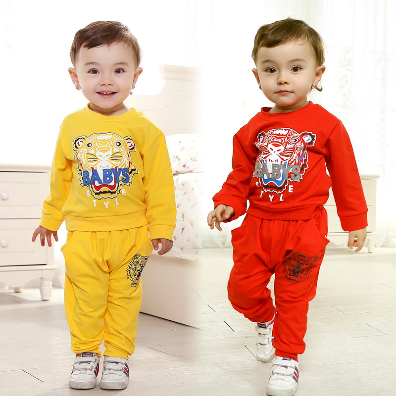 Anlencool Free shipping The new Spring Valley posture infant tiger suit baby clothing newborn baby clothes sets baby bodysuits
