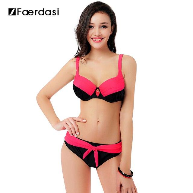 2018 Sexy Swimsuit Popular Swimwear Bikini Women Beachwear Patchwork Summer  Style large size Bikinis Set FD81549 fc417fb350c9
