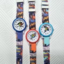 Cartoon Batman Hero Quartz Children Watches Kids Boys Girls Casual Fashion Bracelet Wrist Watch Kid Student Clock Relogio Garoto