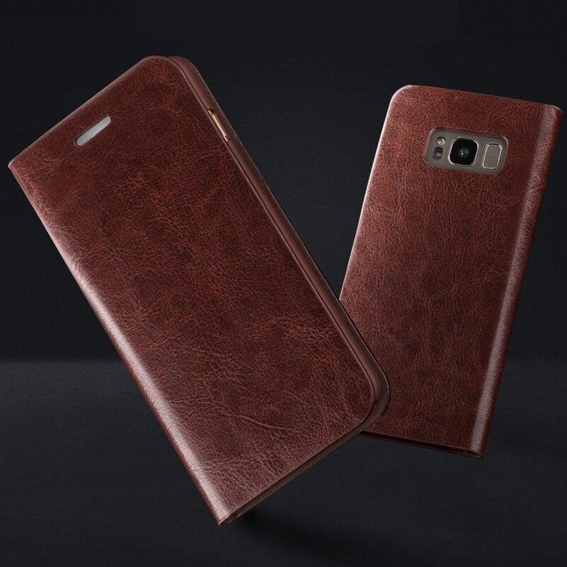 bilder für Musubo Frau Luxus Fall für S5 Echtes Leder Brieftasche Kartenhalter Flip Fall-abdeckung Für Samsung Galaxy S6 Rand S7 Rand S8 Plus S4