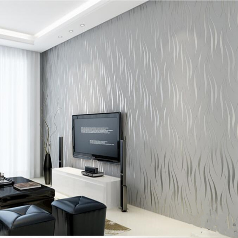 Vague courbe rayure 3D non-tissé papier peint pour salon chambre fond papier peint décor à la maison