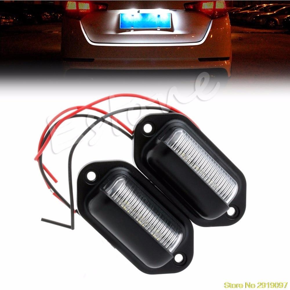 Auto Parts & Accessories Motors 1 Pcs 6 LED License Plate Tag Step ...