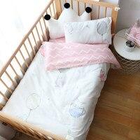 3Pcs Baby Bedding Set Cotton Crib Bed Linen Kid Duver Cover Pillowcase Bedsheet Or Custom Made Mattress Cover No Filler Boy Girl