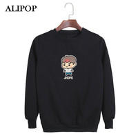 ALIPOP KPOP BTS Bangtan Boys WINGS Album YOU NEVER WALK ALONE Cartoon Cotton Hoodies Clothes Pullovers