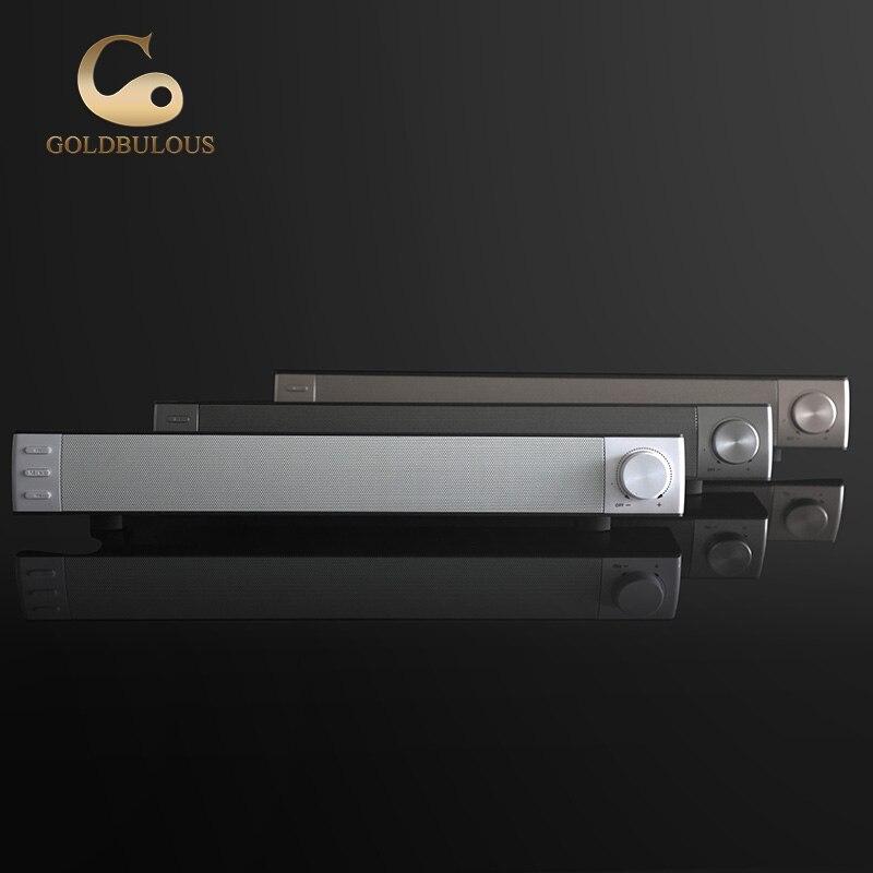 Soundbar senza fili bluetooth speaker 10 w stereo 3d sound system supporto carta di tf aux audio per home theater pc tv del computer altoparlante