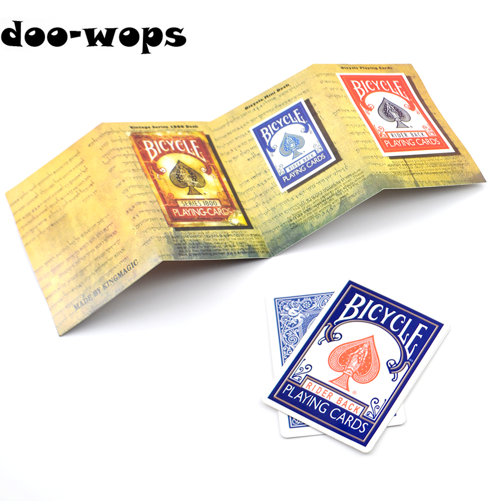 1set 3D Advertising Magic Tricks Card Deck Appearing Magia Magician Close Up Gimmick Props Mentalism Comedy Classic Toy